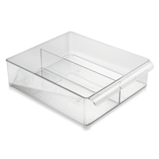 Interdesign Fridge Binz Stackable Clear Plastic Bin